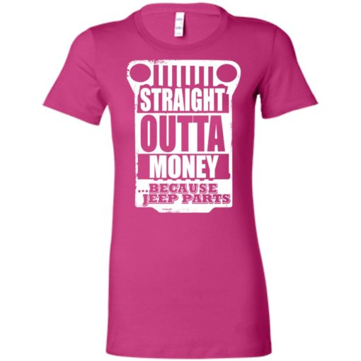 Straight outta money because jeep parts jeep life shirt women tee