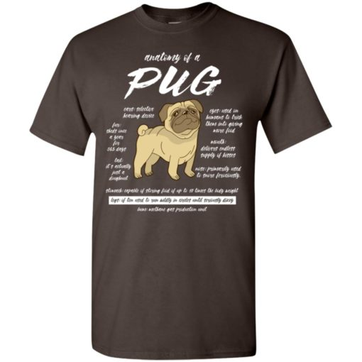 Dog lovers gift anatomy of a pug t-shirt