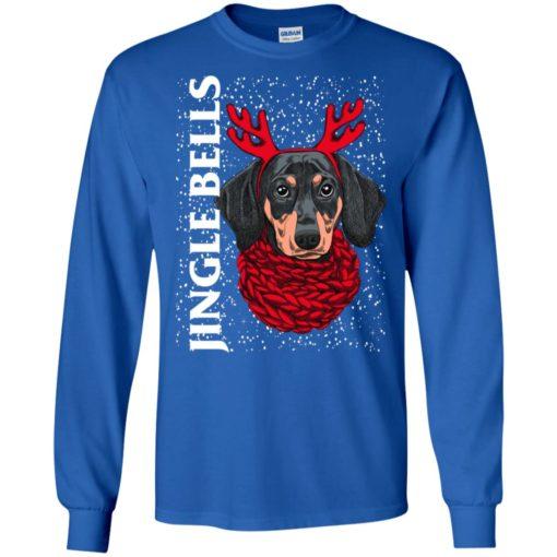 Dachshund jingel bells dog lover christmas gift long sleeve