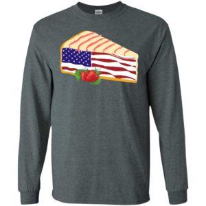 National cheesecake day america flag cute art baker cake lover long sleeve