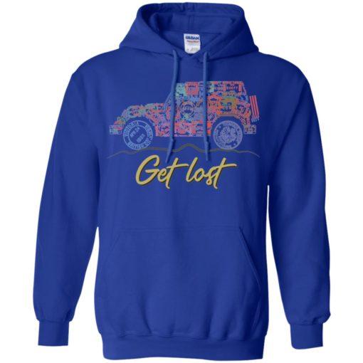 Get lost jeep sign hoodie