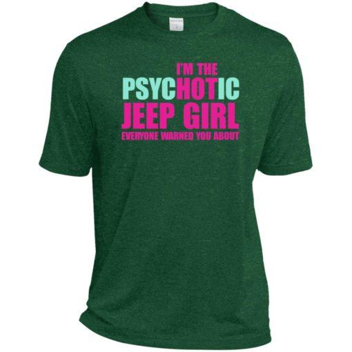 I'm psychotic jeep girl warned sport t-shirt