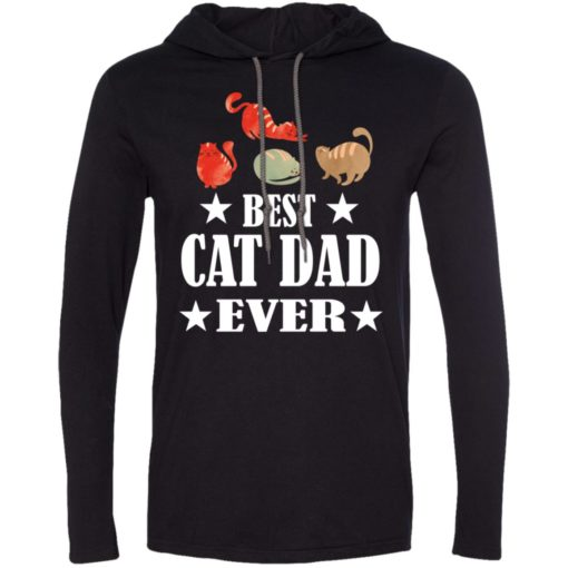 Cat lover gift gift best cat dad ever long sleeve hoodie