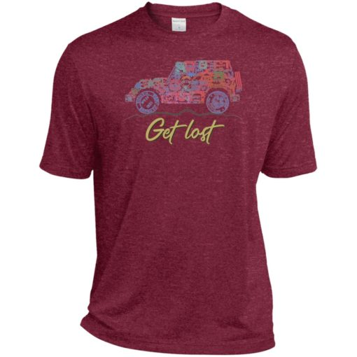 Get lost jeep sign sport t-shirt