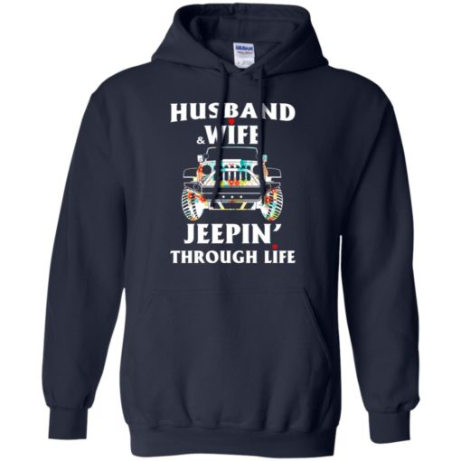 Husband and wife jeeping through life hoodie