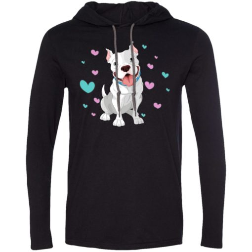 Love boxer dogs gift for boxer owners long sleeve hoodie