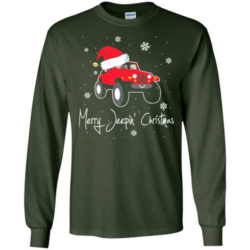 Merry jeepin christmas long sleeve
