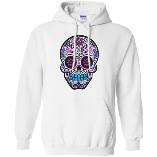 Mexican skull art 3 skeleton face day of the dead dia de los muertos hoodie