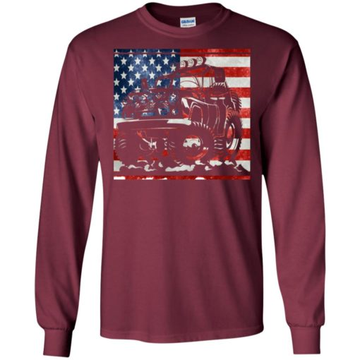 American flag and jeep lover long sleeve