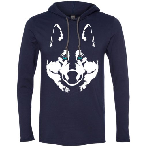 Siberian husky gift for dog lover husky owners long sleeve hoodie