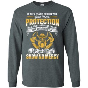Viking if they stand against you show no mercy retro odin valhalla long sleeve