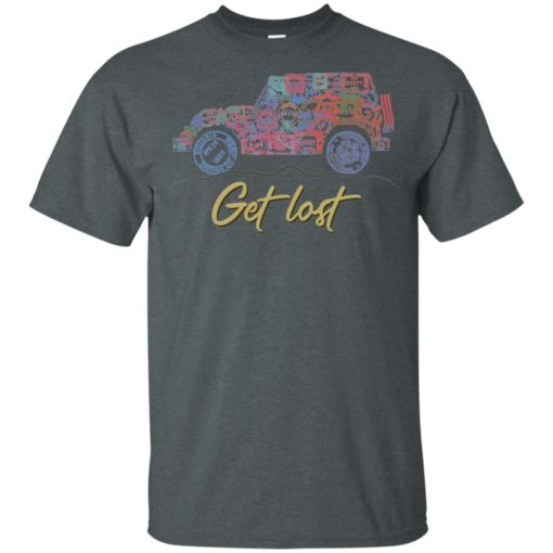 Get lost jeep sign t-shirt