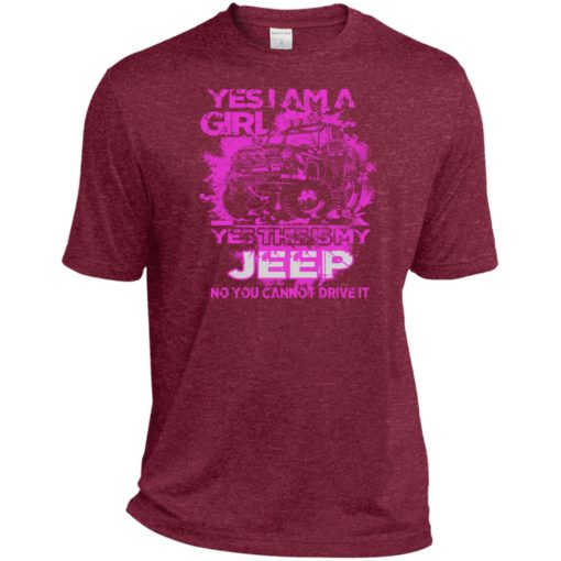 Yes i am a girl yes this is my jeep no you cann't drive it sport t-shirt