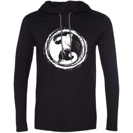 Cat yin yang gift for cat lover cats owner long sleeve hoodie