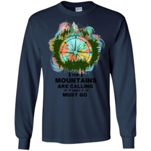 Antique mountain wind rose compass the moutains are calling and i must go long sleeve
