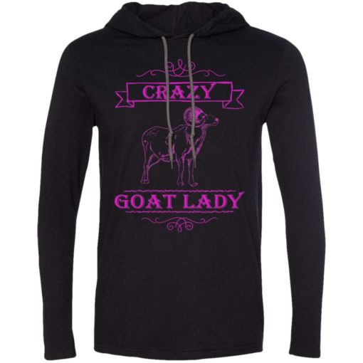 Crazy goat lady funny gift for goat lovers long sleeve hoodie