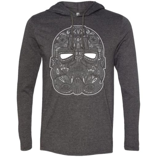 Mexican skull art 9 skeleton face day of the dead dia de los muertos long sleeve hoodie
