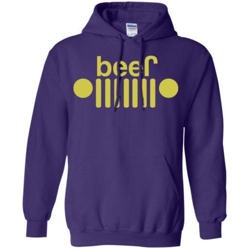 Jeep and beer lover hoodie