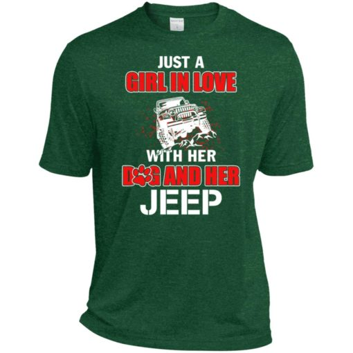 Just a girl in love with her dog and jeep sport t-shirt