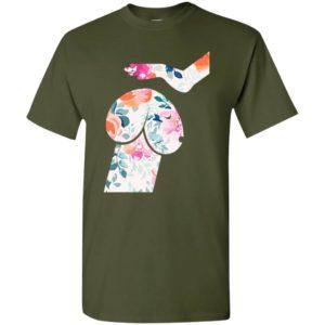 Dachshund petting hand flower dog dirty dick joke t-shirt