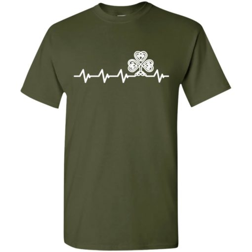Heartbeat heart sign irish clever irealand lover t-shirt