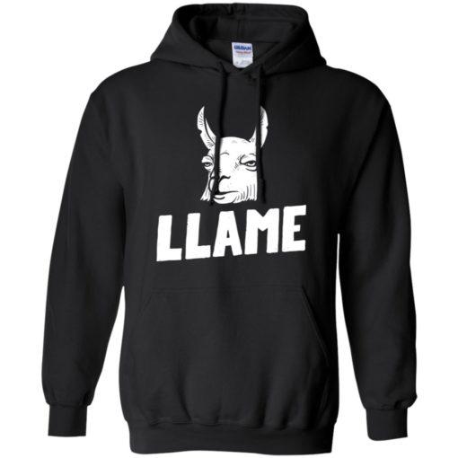 Llama drama funny llame alpaca llama face hoodie