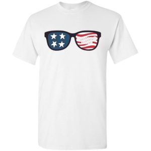 American flag and jeep sunglasses patriotic memorial 4th july gift t-shirt