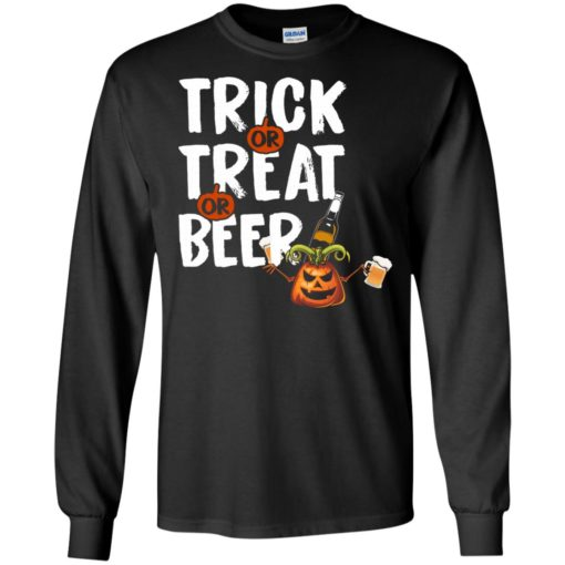 Trick treat beer funny halloween gift for drinker long sleeve