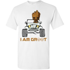 I am groot funny baby groot drives jeep gift t-shirt