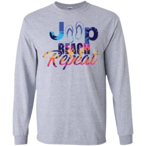 Jeep beach repeat funny jeep life lover summer gift long sleeve