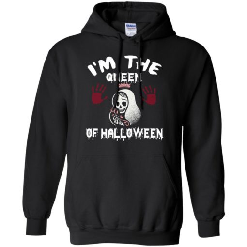 I'm the queen of halloween lady skellington funny gift for mother hoodie