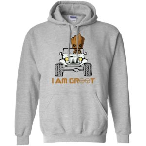 I am groot funny baby groot drives jeep gift hoodie