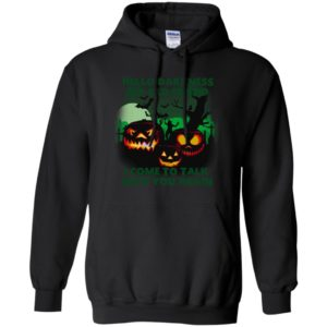 Hello darkness my old friend pumpkins funny halloween ideas gift hoodie