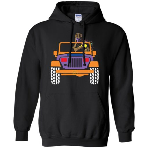 Thanos drives jeep marvel funny jeep gift endgame fans hoodie