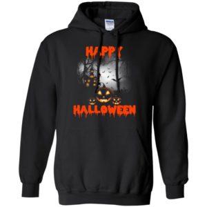 Happy halloween gift pumpkins bats night artwork hoodie