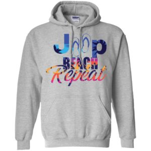 Jeep beach repeat funny jeep life lover summer gift hoodie