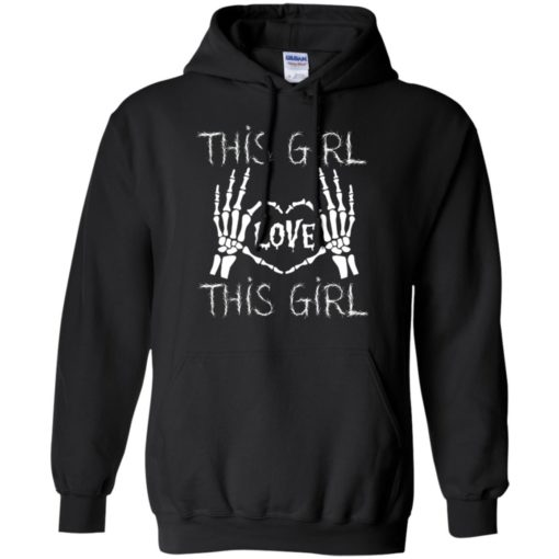 Lgqt halloween gift this girl loves this girl hoodie