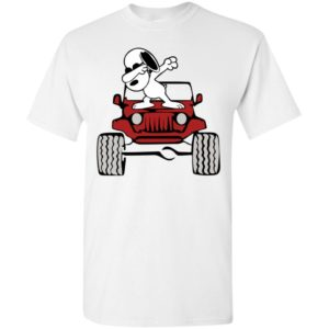 Dabbing snoopy on the jeep funny dance jeep driver gift t-shirt